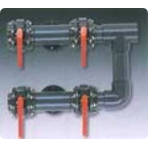 Обвязка фильтра из 4-х пневматических вентилей D=125