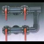 Обвязка фильтра из 4-х электрических вентилей D=250