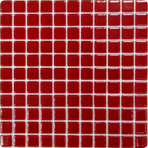 Мозаика стеклянная однотонная Bonaparte Red glass