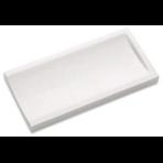 Переливной лоток керамический грязеотводный канал 12,5х25 см, концевой, без глазури