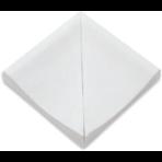 Переливной лоток керамический грязеотводный канал 12,5х12,5 см, угловой, без глазури
