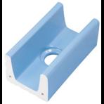 Переливной лоток керамический K1 голубой, длинный с отверстием