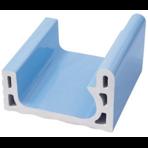 Переливной лоток керамический K3 голубой, длинный