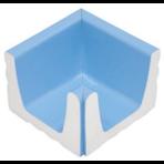 Переливной лоток керамический K1 голубой, внутренний угол