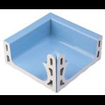 Переливной лоток керамический K3 голубой, внутренний угол