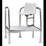Кресло спасателя с углом поворота 90 град. высота 400 мм, нерж.сталь AISI-304