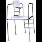 Кресло спасателя с углом поворота 90 град. высота 1000 мм, нерж.сталь AISI-304